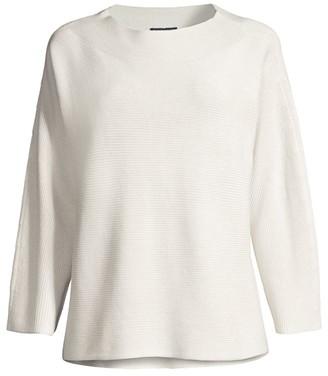 Eileen Fisher Funnel Silk-Blend Sweater