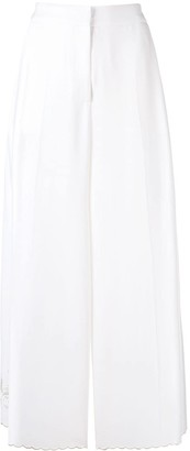 Stella McCartney Cropped Wide Leg Trousers