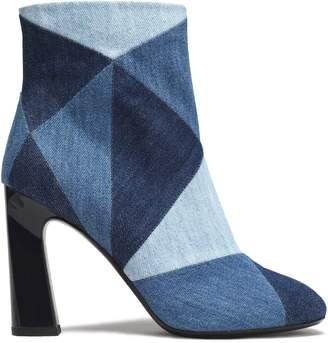 Roger Vivier Patchwork Denim Ankle Boots