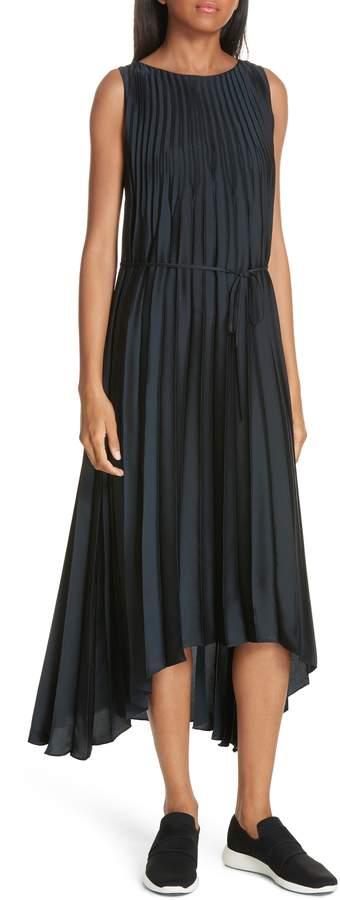 Vince Chevron Pleat Midi Dress