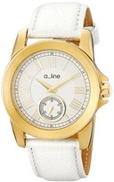 A Line a_line Women's AL-80022-YG-02-WH Amare Analog Display Japanese Quartz White Watch