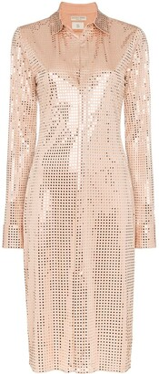 Bottega Veneta Sequinned Shirt Dress