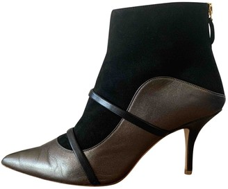 Malone Souliers Anthracite Leather Ankle boots