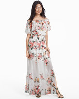 White House Black Market Off-the-Shoulder Floral Maxi Dress