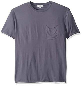 AG Adriano Goldschmied Men's Anders raw Edge Pocket tee