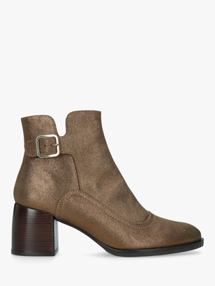 Chie Mihara Or-Omayo Block Heel Ankle Boots, Gold
