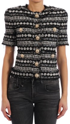 Balmain Short Sleeve Sequin Jacket