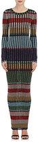 Missoni Women's Striped Metallic Rib-Knit Body-Con Dress