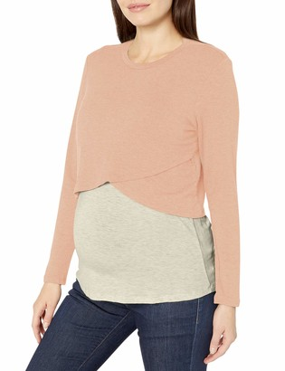 Everly Grey Women's Maternity Nursing Long Sleeve 2-Piece Top