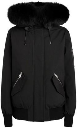 Mackage Fur-Trim Marnie Bomber Jacket