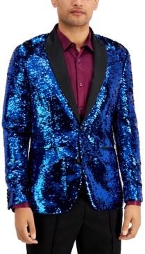 INC International Concepts Inc Men's Slim-Fit Sequin Blazer, Created for Macy's
