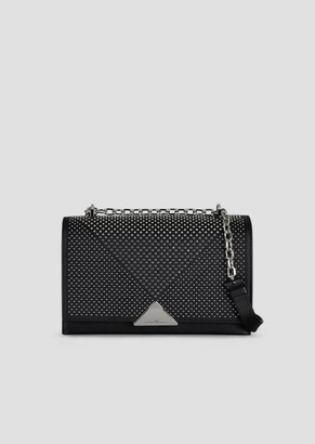 Emporio Armani Cross-Body Bag In Smooth Leather With Stud Appliques