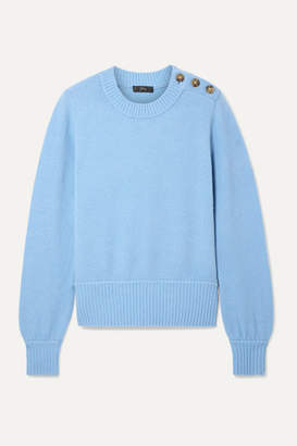 J.Crew Button-detailed Knitted Sweater - Light blue