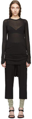 Boris Bidjan Saberi Black Object-Dyed Long Sleeve Short Dress