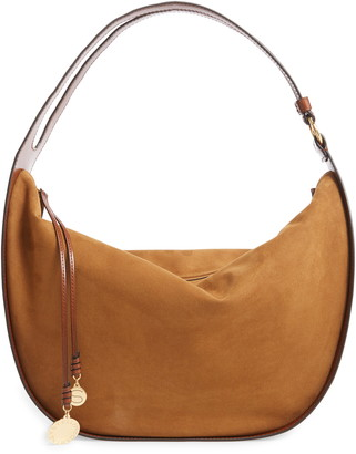 Stella McCartney Medium Eco Alter Faux Leather & Faux Suede Hobo Bag