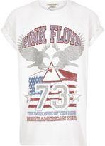 River Island Girls white 'Pink Floyd' t-shirt