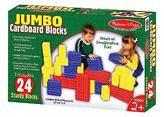 Melissa & Doug ; Extra-Thick Cardboard Building Blocks - 24 Blocks in 3 S...
