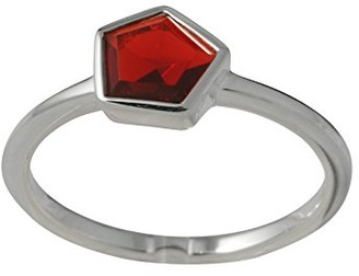 Canyon Ring - 925 Sterling Silver-Cubic Zirconia-R3956 red