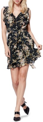Paige Tia Floral Ruffle Silk Dress