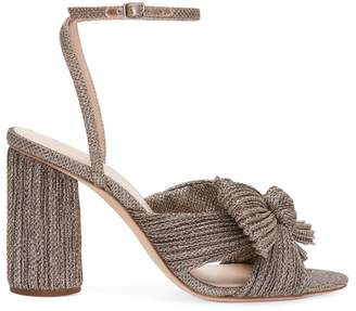 Loeffler Randall Camellia Knotted Glitter Sandals