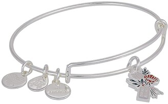 Alex and Ani Celebrate Thank You Expandable Wire Bangle (Pink) Bracelet