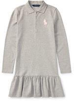 Ralph Lauren 7-16 Cotton Long-Sleeve Polo Dress