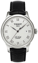 Tissot T41142333 Le Locle Date Leather Strap Watch, Black/silver