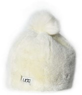 UGG Faux Fur Beanie with Pom Hat (Toddler/Little Kids) (Ivory) Caps