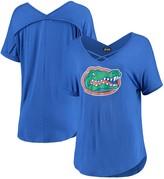 Unbranded Women's Royal Florida Gators Goal Getter Cross Neck T-Shirt