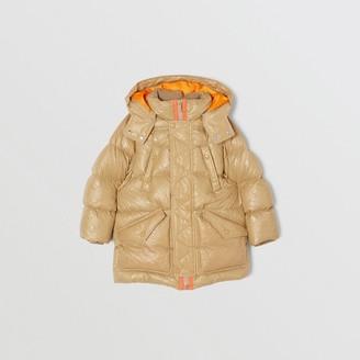 Burberry Detachable Hood Embossed Logo Puffer Coat