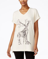 Style&Co. Style & Co. Petite Giraffe-Print Top, Only at Macy's