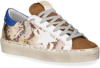Golden Goose Hi Star Python-Print Sneakers