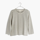 Madewell Keys Three-Quarter Tee in Whitwell Stripe