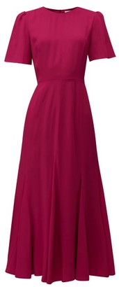 Goat Ivana Cady Midi Dress - Womens - Burgundy