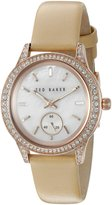 Ted Baker Women's 10023515 Classic Analog Display Japanese Quartz Beige Watch