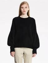 CK Calvin Klein Felted Cashmere Long Sleeve Top