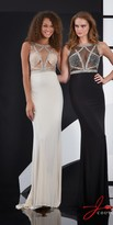 Jasz Couture - 5045 Dress In Black Silver