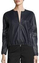 Vince Leather Golf Jacket