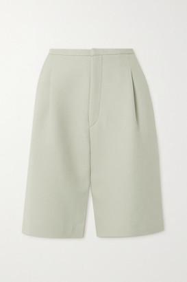 Totême Lluc Pleated Twill Shorts - Beige