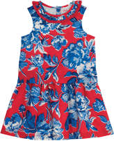 Cath Kidston Whitby Rose Kids Double Layer Pleat Neck Dress