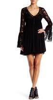 Romeo & Juliet Couture Flutter Sleeve Lace Mini Dress