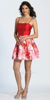 Dave and Johnny Box Pleated Floral Print Fit and Flare Cocktail Dress