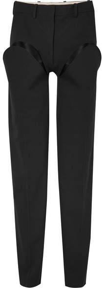 Y/Project Cutout Straight-leg Wool-blend Pants - Black