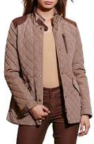 Lauren Ralph Lauren Women's Diamond Quilted Jacket With Faux Leather Trim