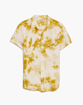 Madewell Short-Sleeve Perfect Shirt in Tie-Dye