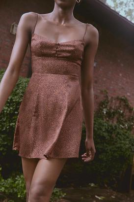Urban Outfitters Petra Satin Sweetheart Mini Dress