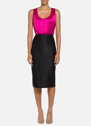 St. John Glimmering Sequined Knit Pencil Skirt