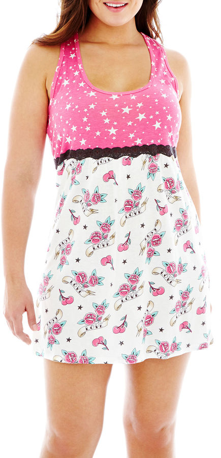 JCPenney INSOMNIAX Insomniax Sleeveless Chemise - Plus