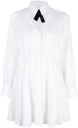 Fleur Du Mal Cutout Shirt Dress