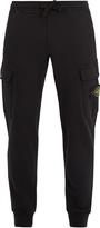 Stone Island Cargo-pocket tapered cotton track pants